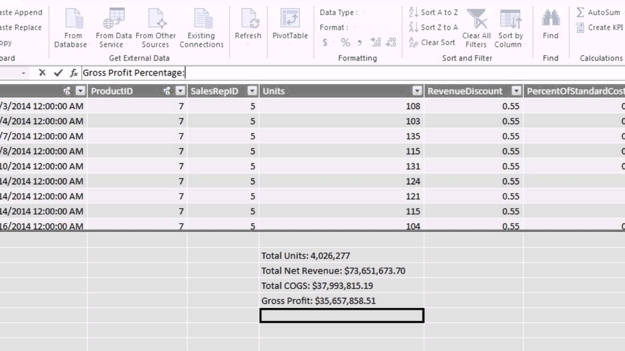 Excel 2013 PowerPivot Basics #09: Calculated Fields & DAX Functions 9  Examples