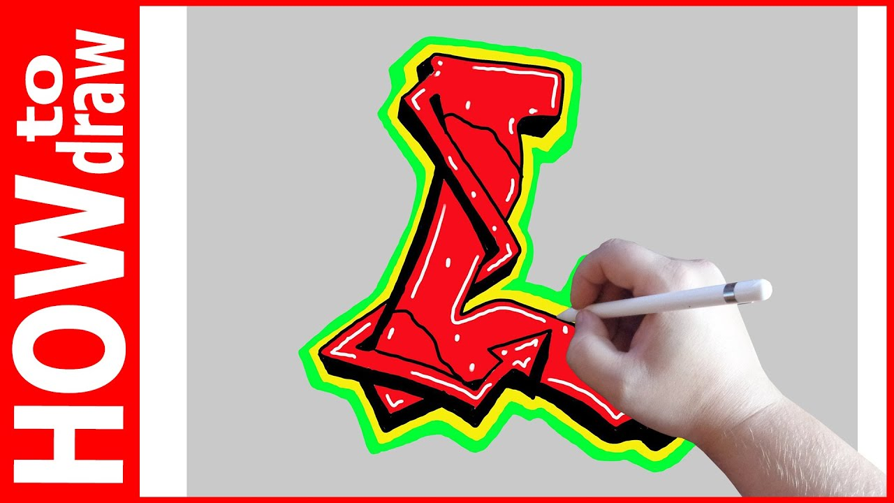 How to draw graffiti letters l № 1