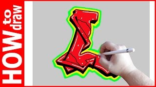 How to draw Graffiti Letters, L № 1