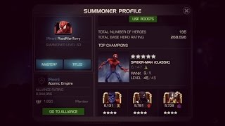 Marvel: Contest Of Champions - How To Become Super High Rated + Farming Tips!