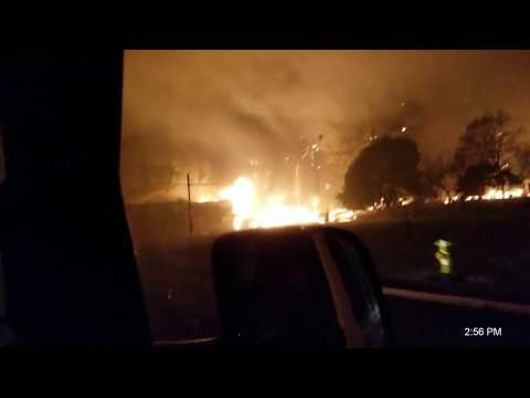 Driving into and out of the Camp Fire, Paradise CA, 11/8/18