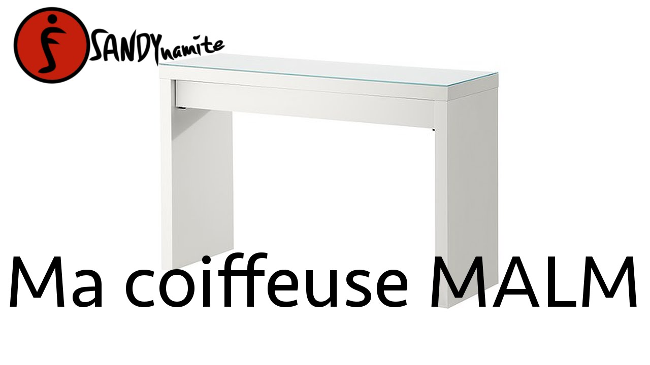 ma coiffeuse malm de chez ikea youtube. Black Bedroom Furniture Sets. Home Design Ideas