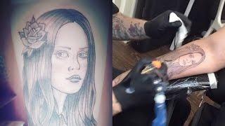 Lana Del Rey Tattoo (Timelapse)