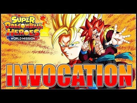 INVOCATION XENO VEGETO SSJ3 & XENO GOGETA SSJ4 ! | SUPER DRAGON BALL HEROES WORLD MISSION