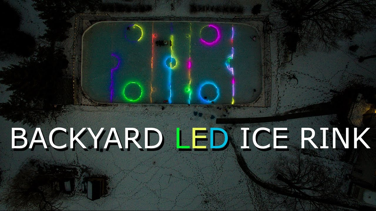 Backyard Ice Rink Lights this backyard led ice hockey rink in minnesota will blow your mind