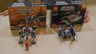 LEGO ЗВЁЗДНЫЕ ВОЙНЫ. Микрофайтеры серия 2. Дроид паук и Дроид стервятник