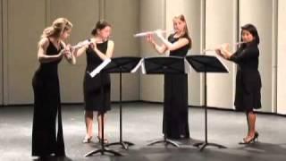 Emissary Quartet performs Quatour pour flutes, Mvt. I