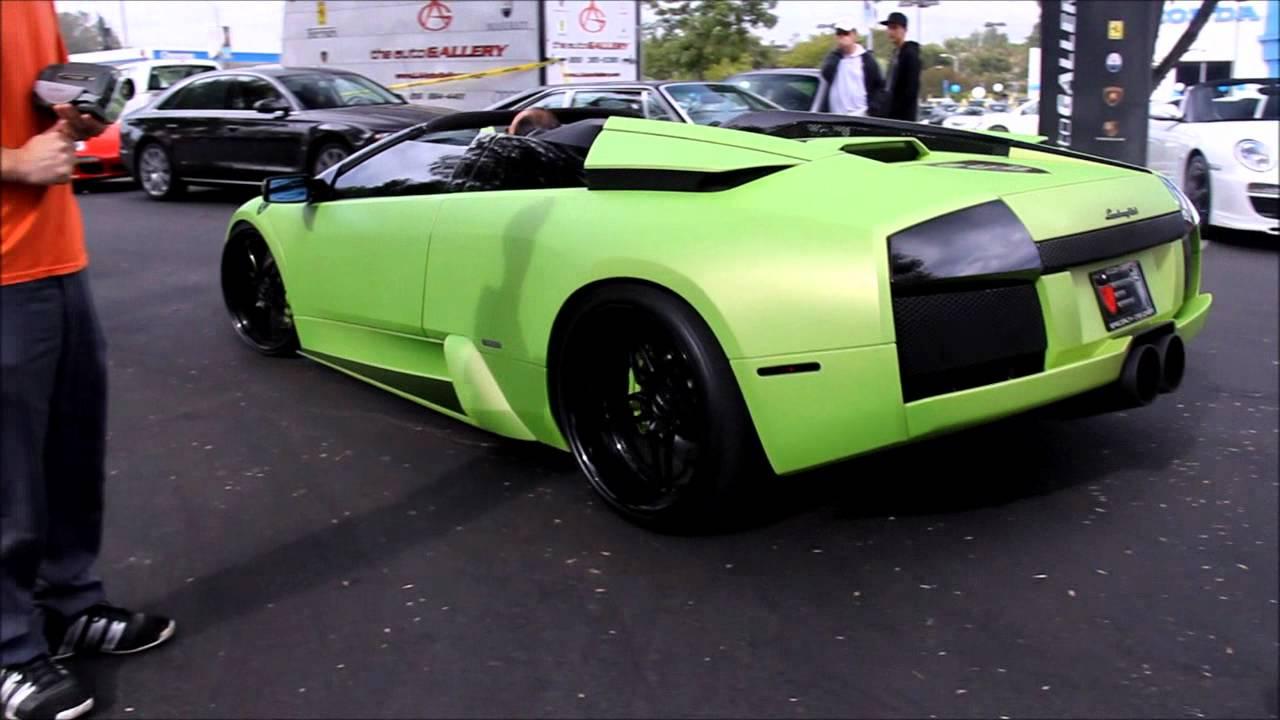 1000 Hp Matte Green Lamborghini Murcielago Roadster Insane