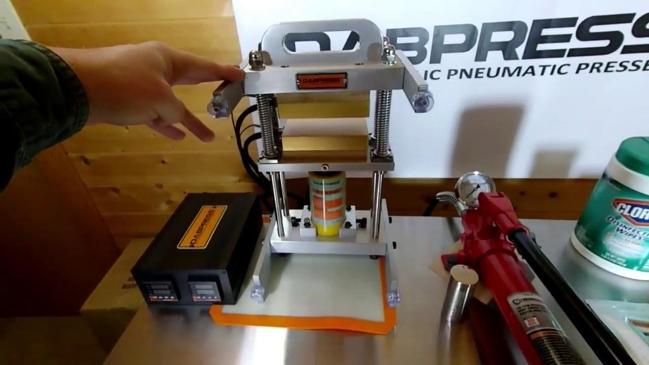 Dabpress New 10 Ton Driptech Rosin Press Machine | 3x5