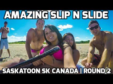 Amazing Slip N Slide | Saskatoon SK Canada | Round 2