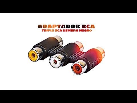 Video de Adaptador triple RCA hembra  Negro