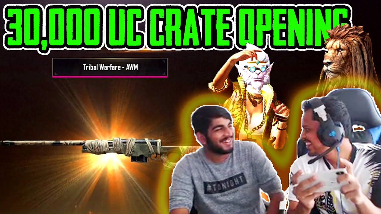PUBG MOBILE | 30,000 UC CRATE OPENING | FINALLY I GOT AWM AND M416 SKIN | KRONTEN GAMING