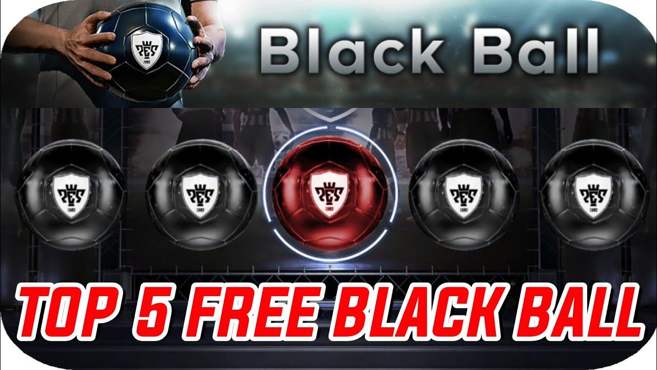 Top 5 Free Black Ball - 7 Day Bonus Reward | PES 2018 MOBILE
