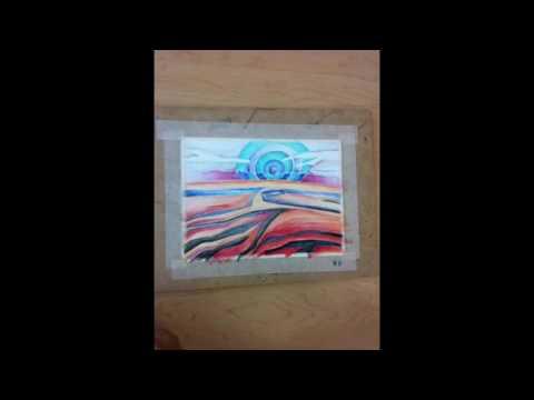 Video 6A: Watercolor pencil landscape painting