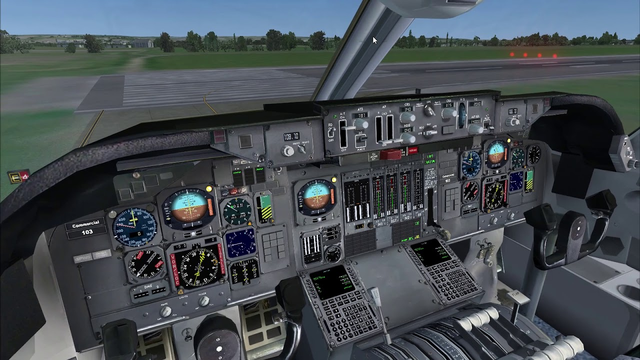 FSX My First Boeing 747 200 Flight Part 1/3 Taxing and Takeoff Just Flight  747