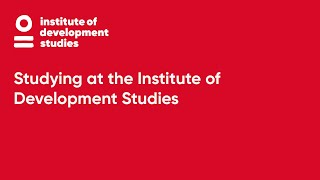 Studying at the Institute of Development Studies