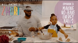 Zhuri makes no bake snack recipe with her dad, LeBron James!
