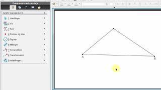 1. Tegne skitse af trekant i TI-Nspire