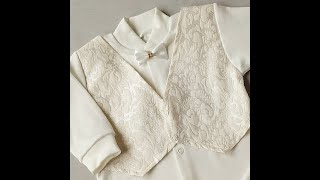 Комплект на выписку с жилеткой белого цвета для мальчика рост 56 и 62 см