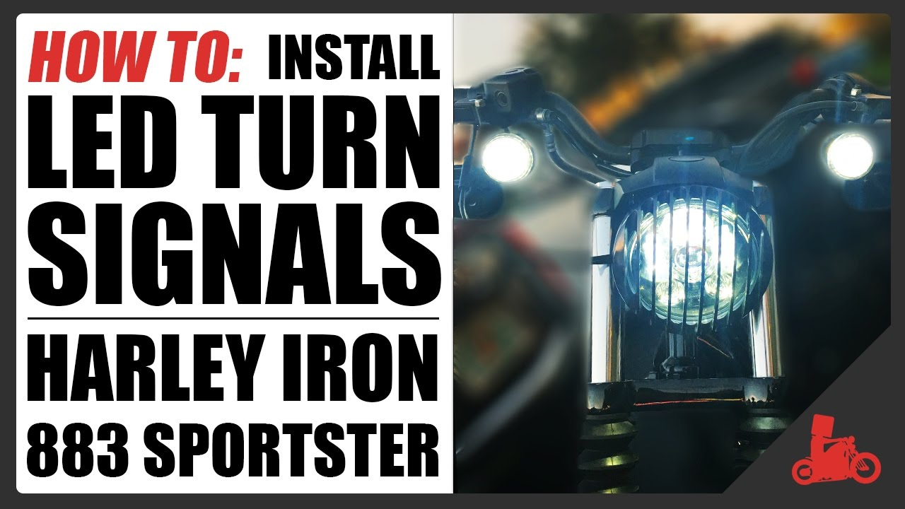 HOW TO Install LED Turn Signal Inserts  Harley Iron 883