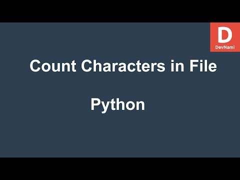 Python Count Words Characters In Text File