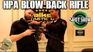 DesertFox Airsoft SHOT Show 2015: High Pressure Air Blow Back Rifle from Valken