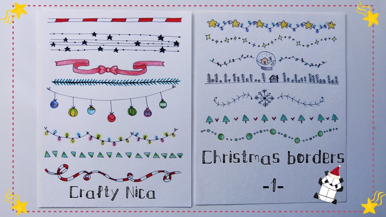 BORDERS AND FRAMES DESIGNS. Borders for Christmas Cards & school ...