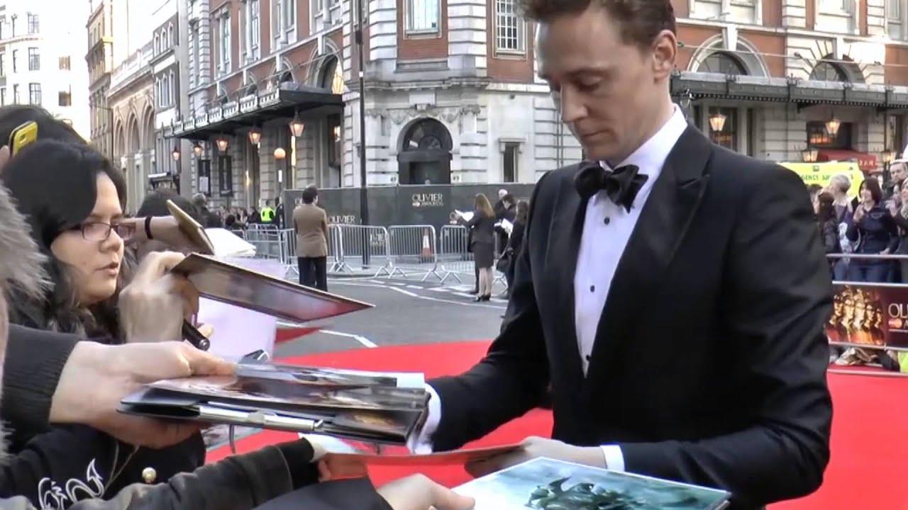 The Olivier Awards2014 Tom Hiddleston Arrival
