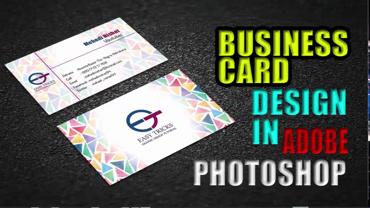 How to design a business card in photoshop cc 2017 design 3d how to design a business card in photoshop cc 2017 design 3d business card photoshop tutorial magicingreecefo Image collections