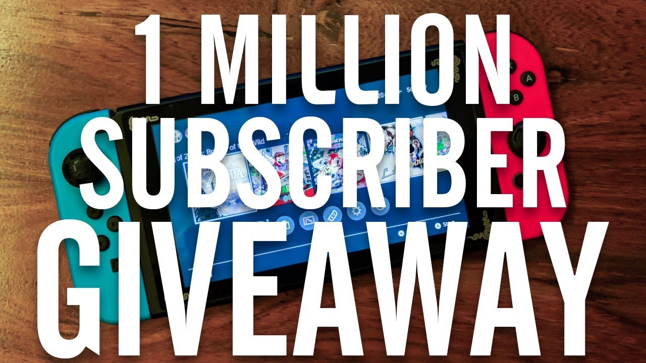 1 Million Subscriber Giveaway (Nintendo Switch and Xbox One S) Our Journey!