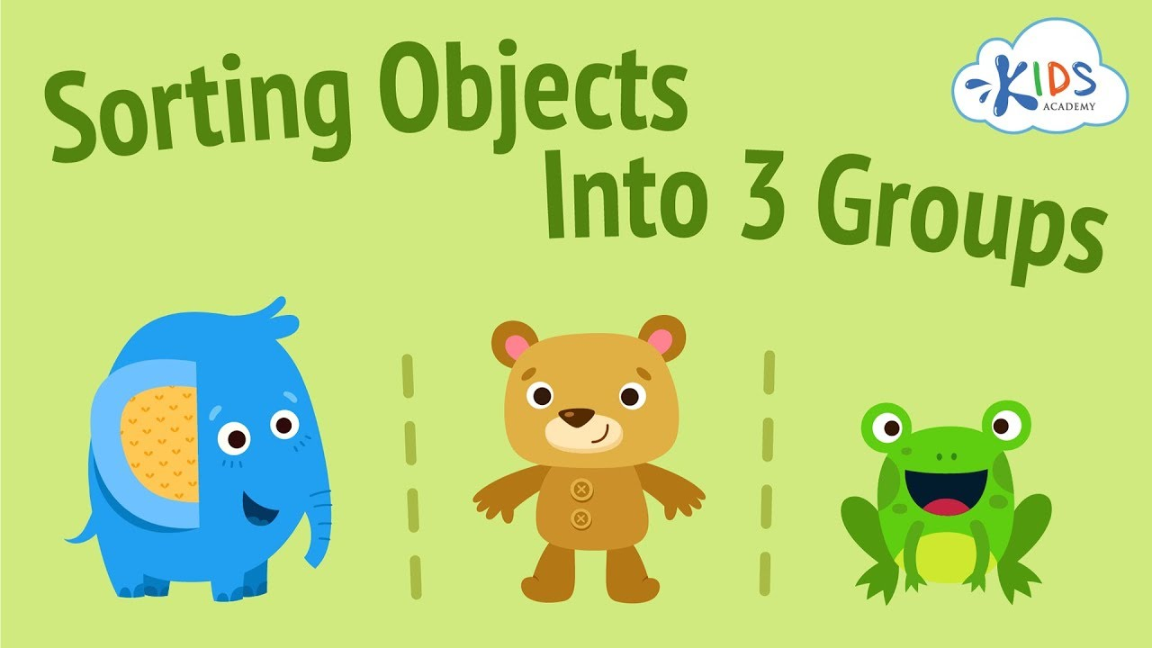 medium resolution of Sorting Objects for Kids   Sort Objects into Three Groups   Kids Academy -  YouTube