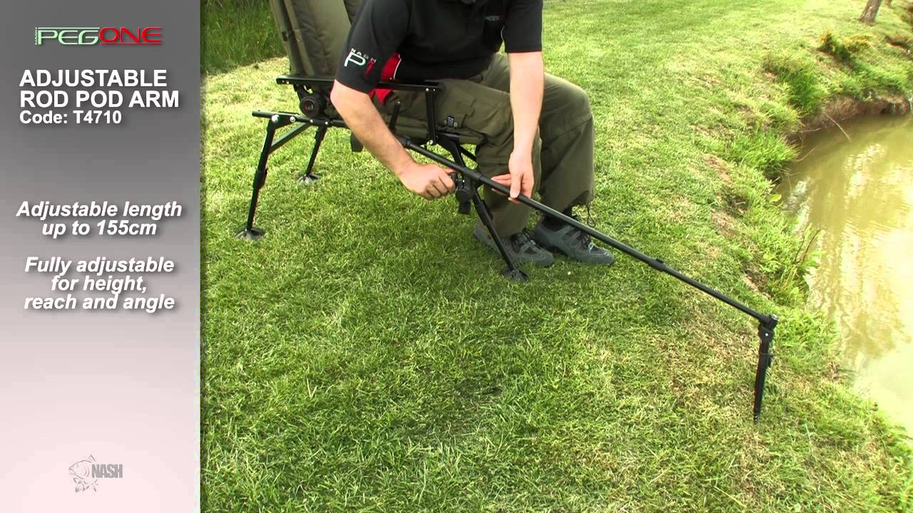 Fishing Rod Chair Covers London Adjustable Pod Arm - Peg One By Nash Code T4710 Youtube