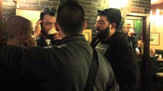 "The ""Tenore Ulianesu""  singing Sardinian Pastoral Songs in Irish Pub"