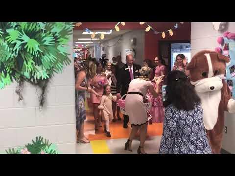 Queen Azalea Beth Troutman at Blair Elementary School on Thursday