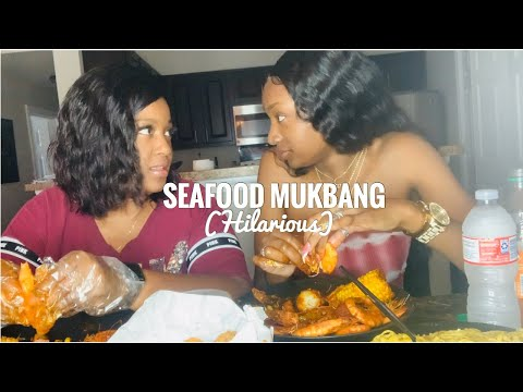 SEAFOOD MUKBANG | STORY TIME |   MY MOM DIDN'T WANT ME TO MAKE LIPGLOSS