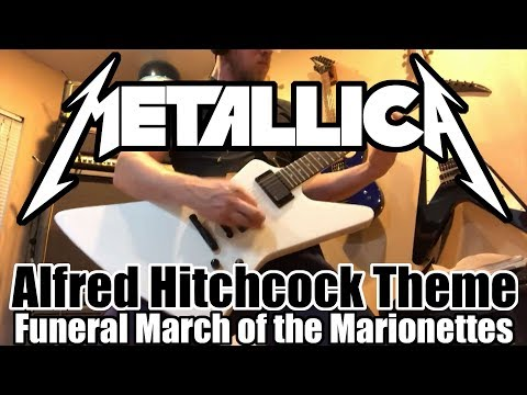 Metallica - Funeral March of the Marionette - Alfred Hitchcock Theme guitar Cover - guitarguts