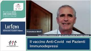 Il vaccino anti Covid nei pazienti immunodepressi