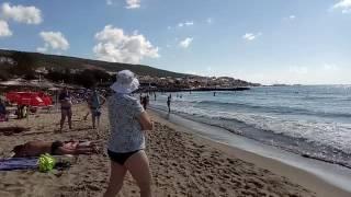 Пляж. Море. Святой Влас. Болгария.(3 сентября. Вода +25.Мягкие волны, очень теплые., 2016-09-03T10:20:16.000Z)