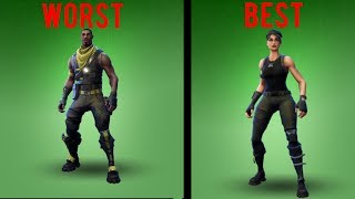 Ranking Every Uncommon Skin In Fortnite!