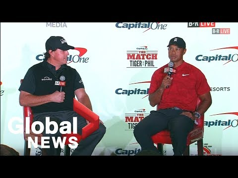 Phil Mickelson and Tiger Woods hype up match with $200k side bet from YouTube · Duration:  1 minutes 58 seconds