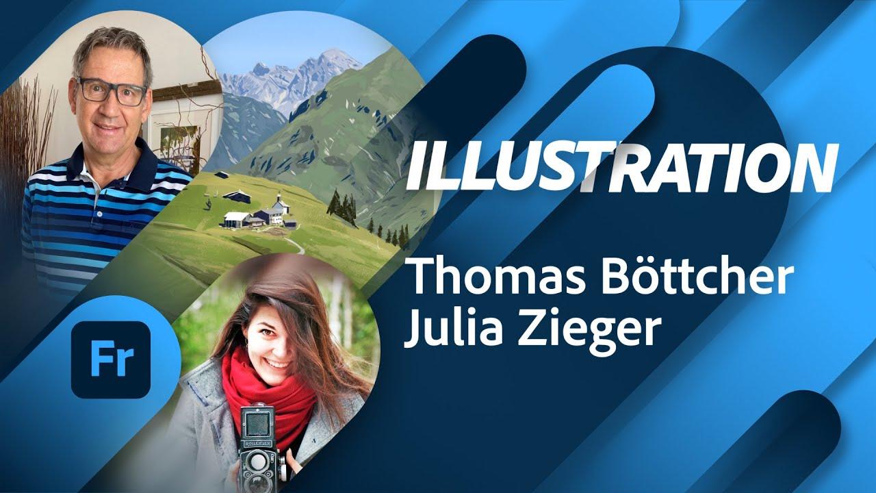 Illustration mit Thomas Böttcher |Adobe Live