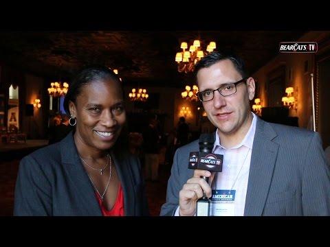 American Women's Basketball Media Day: Jamelle Ell...