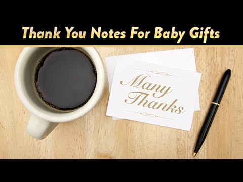 writing thank you notes for baby gifts cloudmom youtube