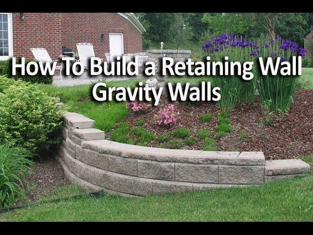 How To Construct A Block Retaining Wall: 14 Steps (with Pictures)