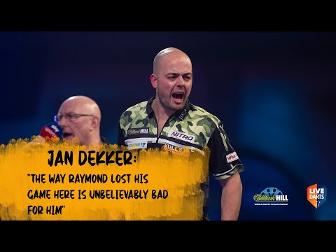 """Jan Dekker: """"The way Raymond lost his game here is unbelievably bad for him"""""""