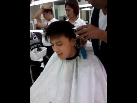 Singing FOREVERMORE while getting my haircut :] - Timmy Pavino