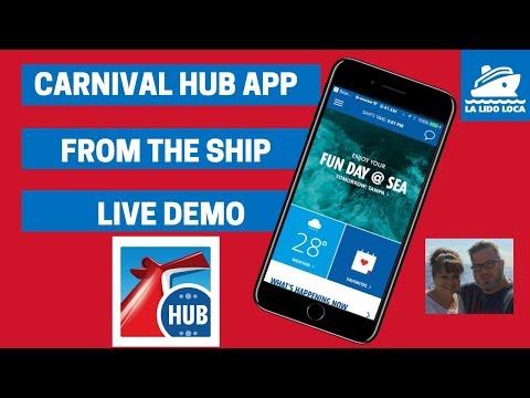 Carnival Hub App - From the Ship - How it Works on board! Carnival Hub App Demo