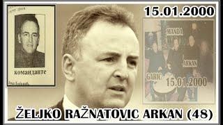 UBISTVO ŽELJKO RAŽNATOVIĆ ARKAN (48) 15.01.2000
