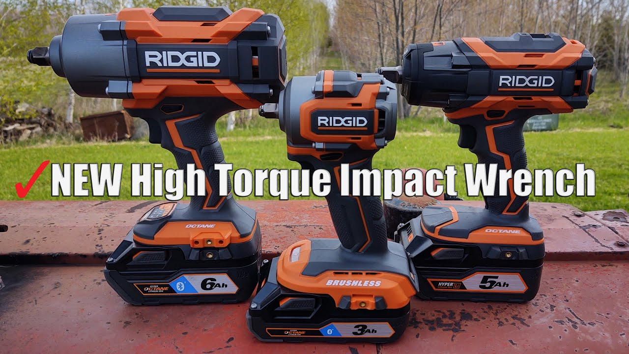 Ridgid 18 Volt Octane 1 2 Drive High Torque 6 Mode Impact Wrench Review R86211b 1 500 Ft Lb Youtube