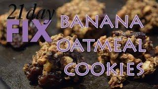 21 Day Fix Banana Oatmeal Cookies